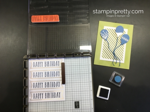 Learn how to create 16 birthday cards using the Stampin Up Perennial Birthday Project Kit - Mary Fish StampinUp stamparatus
