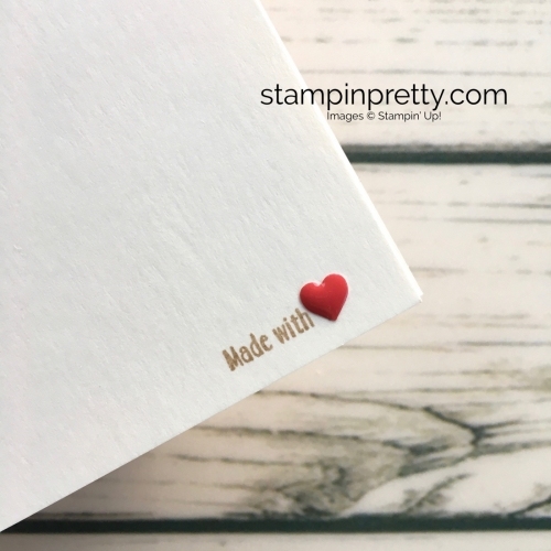 Learn how to create a Mothers Day Card or Valentine using Stampin Up Apron of Love - Mary Fish StampinUp