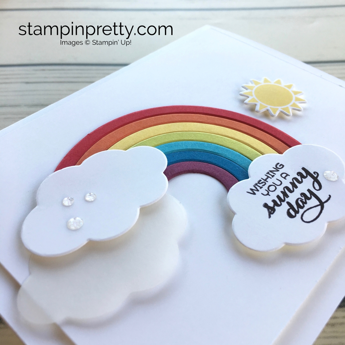 a simple rainbow card to brighten someone s day stampin pretty