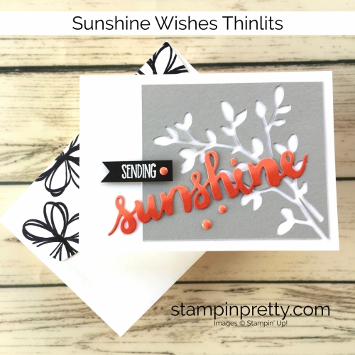 Learn how to create a simple friendship card using Stampin Up Sunshine Wishes - Mary Fish StampinUp Idea