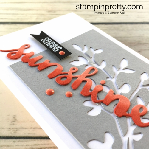 Learn how to create a simple friendship card using Stampin Up Sunshine Wishes - Mary Fish StampinUp Ideas