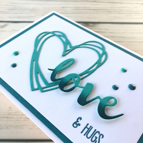 Learn how to create a simple love card valentine using Sunshine Wishes Dies - Mary Fish StampinUp