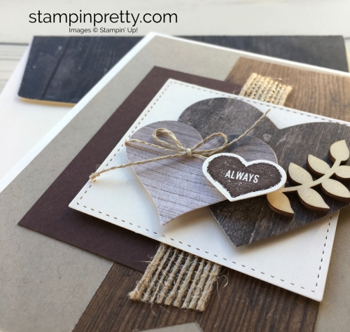 Learn how to create a simple masculine valentine card using Stampin Up - Mary Fish StampinUp