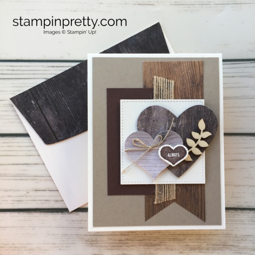 Learn how to create a simple masculine valentine card using Stampin Up - Mary Fish StampinUp Ideas