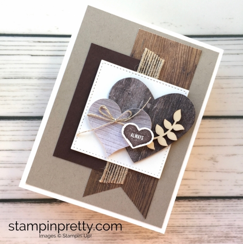Learn how to create a simple masculine valentine card using Stampin Up - Mary Fish StampinUp idea