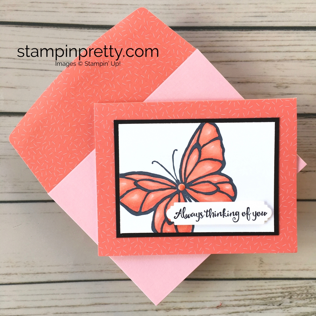 Learn how to create a simple thinking of you sympathy card using Stampin Up Beautiful Day - Mary Fish Stampin Blend