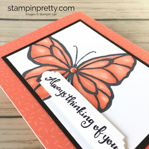 Learn how to create a simple thinking of you sympathy card using Stampin Up Beautiful Day - Mary Fish Stampin Blends