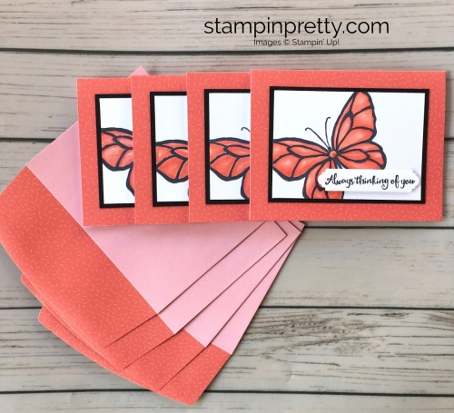 Learn how to create a simple thinking of you sympathy card using Stampin Up Beautiful Day - Mary Fish Stampin Blends Envelope