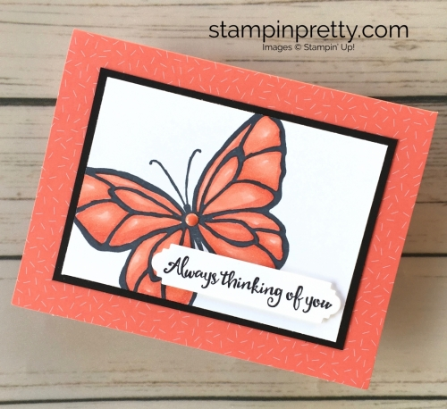 Learn how to create a simple thinking of you sympathy card using Stampin Up Beautiful Day - Mary Fish Stampin Blends Idea