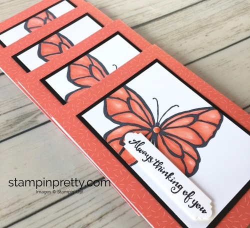 Learn how to create a simple thinking of you sympathy card using Stampin Up Beautiful Day - Mary Fish Stampin Blends Ideas