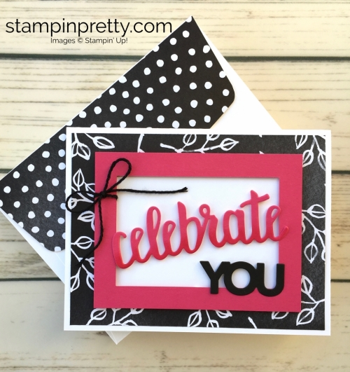 Learn how to create this simple birthday card using Stampin Up Celebrate You Framelits Dies - Mary Fish Idea