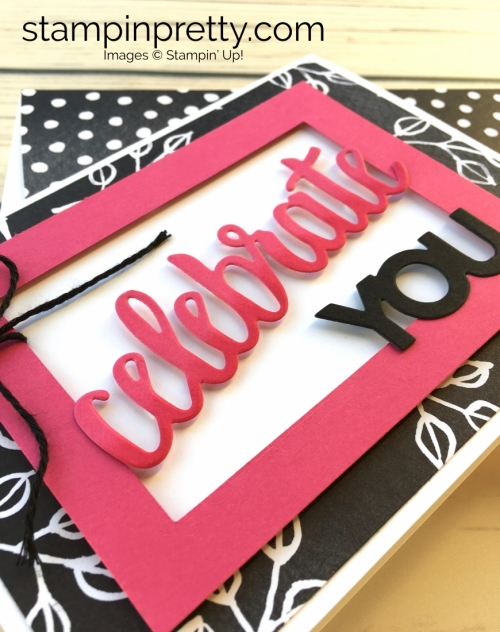 Learn how to create this simple birthday card using Stampin Up Celebrate You Framelits Dies - Mary Fish Ideas