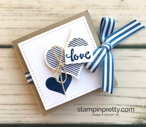 Learn how to heat emboss this valentine treat holder using the Stampin' Up! Stamparatus - Mary Fish