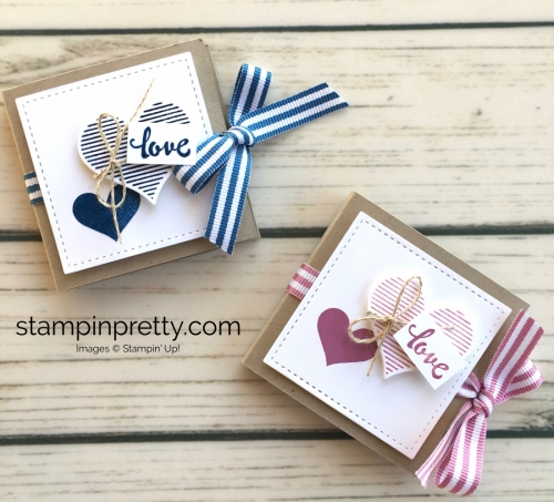 Learn how to heat emboss this valentine treat holder using the Stampin' Up! Stamparatus - Mary Fish Duo