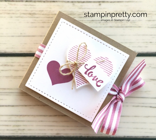 Learn how to heat emboss this valentine treat holder using the Stampin' Up! Stamparatus - Mary Fish Idea