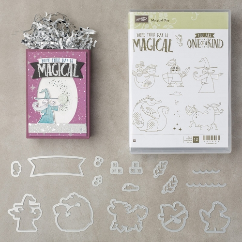 birthday card magical day stamp set