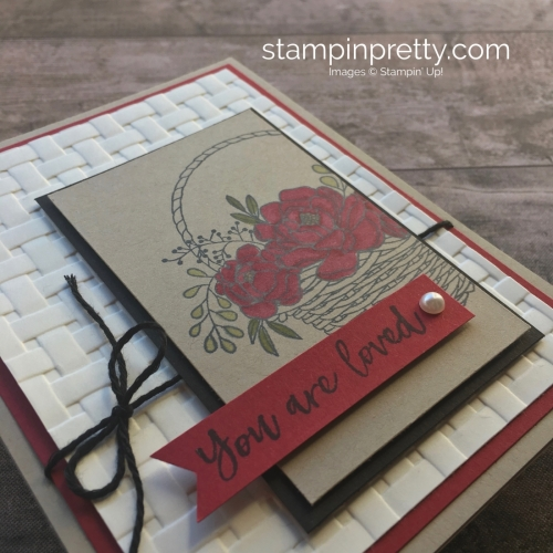Blossoming Basket Stamp Set & Basket Weave Embossing Folder card idea Stampin Up - Mary Fish StampinUp