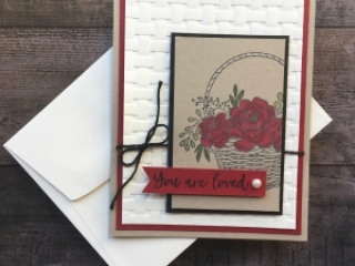 Blossoming Basket Stamp Set & Basket Weave Embossing Folder card ideas Stampin Up - Mary Fish StampinUp