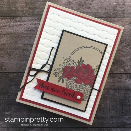 Blossoming Basket Stamp Set & Basket Weave Embossing Folder cards idea Stampin Up - Mary Fish StampinUp