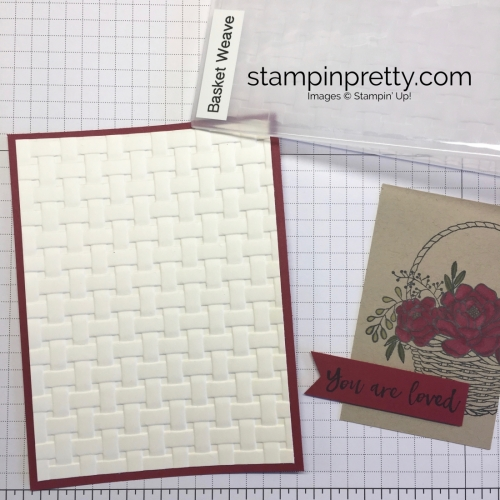 Blossoming Basket Stamp Set & Basket Weave Textured Embossing Folder card idea Stampin Up - Mary Fish StampinUp