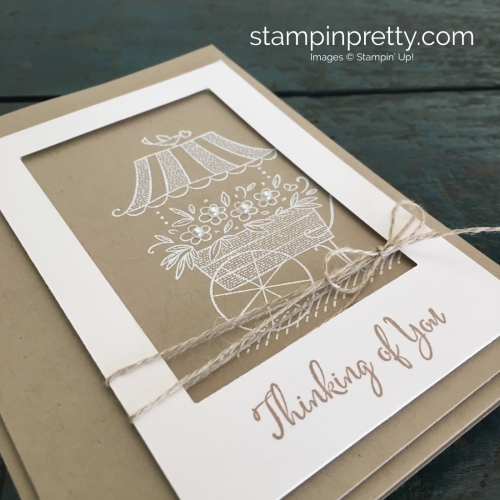 Create a Thinking of You Sympathy Card using Stampin Up Friendships Sweetest Thoughts - Mary Fish StampinUp Idea