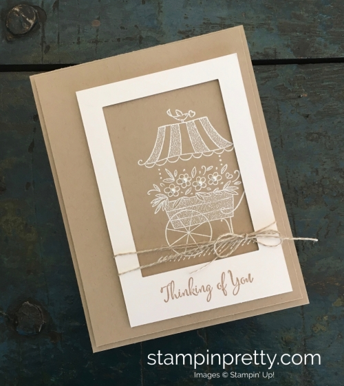 Create a Thinking of You Sympathy Card using Stampin Up Friendships Sweetest Thoughts - Mary Fish StampinUp Ideas