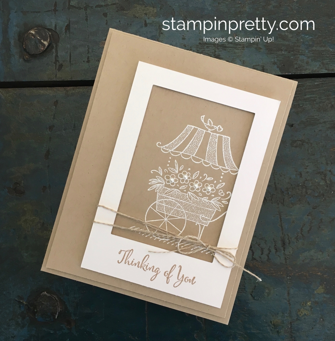 Create a Thinking of You Sympathy Card using Stampin Up Friendships Sweetest Thoughts - Mary Fish StampinUp