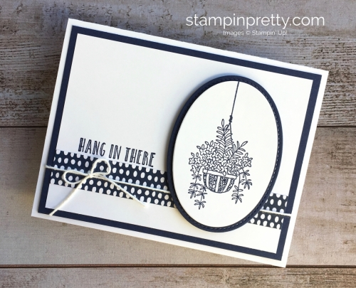 Create a simple Encouragement Sympathy Card using Stampin' Up! Hanging Basket - Mary Fish Idea