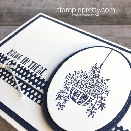 Create a simple Encouragement Sympathy Card using Stampin' Up! Hanging Basket - Mary Fish Ideas