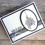 Create a simple Encouragement Sympathy Card using Stampin' Up! Hanging Baskets - Mary Fish Ideas