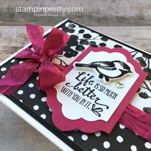Create a simple friendship card using Stampin Up Petal Palette Stamp Set & Petals & More Thinlit Dies - Mary Fish StampinUp