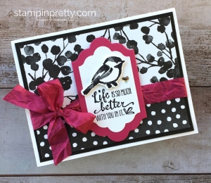 Create a simple friendship card using Stampin Up Petal Palette Stamp Set & Petals & More Thinlits Die - Mary Fish StampinUp