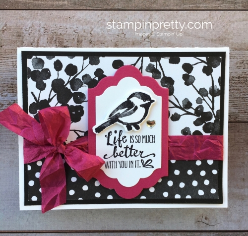 Create a simple friendship card using Stampin Up Petal Palette Stamp Set & Petals & More Thinlits Dies - Mary Fish StampinUp