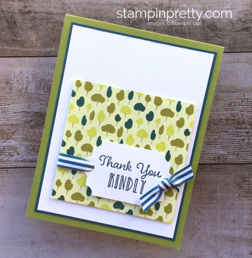 Create a simple thank you card using Stampin Up Hanging Garden - Mary Fish StampinUp