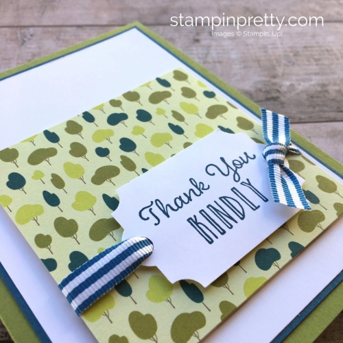 Create a simple thank you card using Stampin Up Hanging Garden - Mary Fish StampinUp Idea