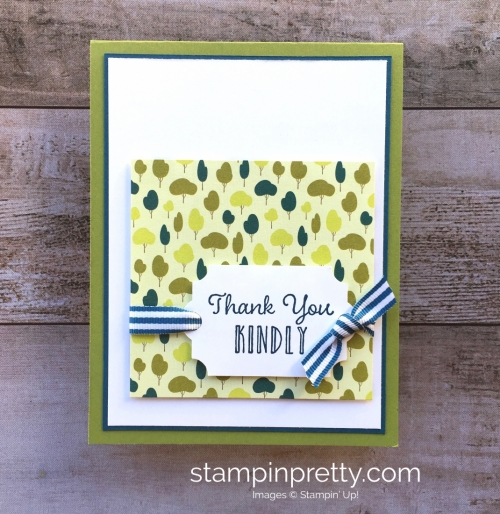 Create a simple thank you card using Stampin Up Hanging Garden - Mary Fish StampinUp Ideas
