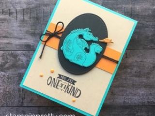 Dragon Birthday Card idea Stampin Up Magical Day - Mary Fish StampinUp