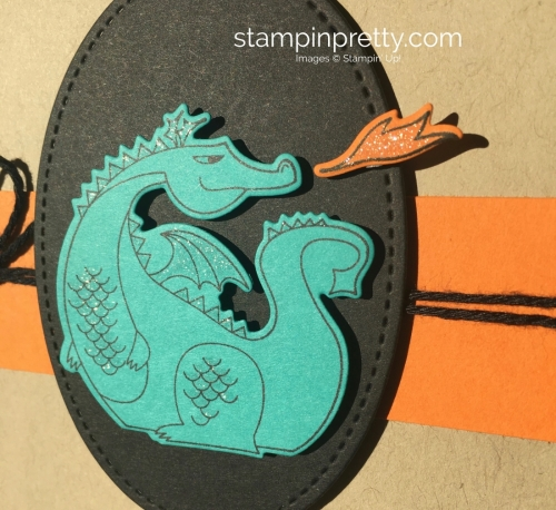 Dragon Birthday Card idea using Stampin Up Magical Day - Mary Fish StampinUp
