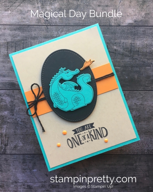 Dragon Birthday Card idea using Stampin Up Magical Days - Mary Fish StampinUp