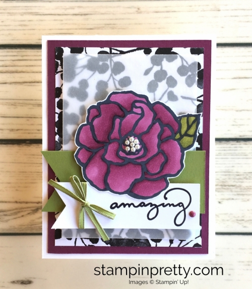 Stampin Up Beautiful Day Stamp Set Card Idea - Mary Fish StampinUp Stampin Blends Markers