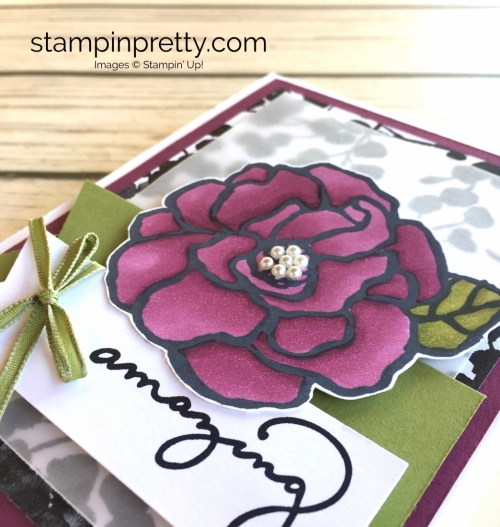 Stampin Up Beautiful Day Stamp Set Card - Mary Fish StampinUp Stampin Blends Markers