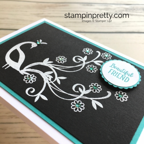 Stampin Up Beautiful Peacock Friend Card Ideas - Mary Fish StampinUp