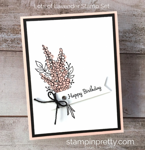 Stampin Up Lots of Lavender birthday card idea - Mary Fish StampinUp