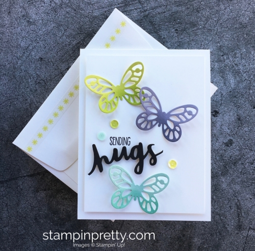 Sympathy Card Idea Using Stampin Up Bold Butterfly Die - Mary Fish StampinUp
