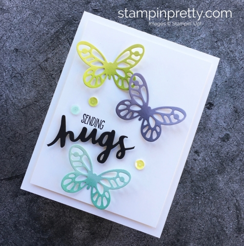 Sympathy Card Idea Using Stampin Up Bold Butterfly Dies - Mary Fish StampinUp Butterflies