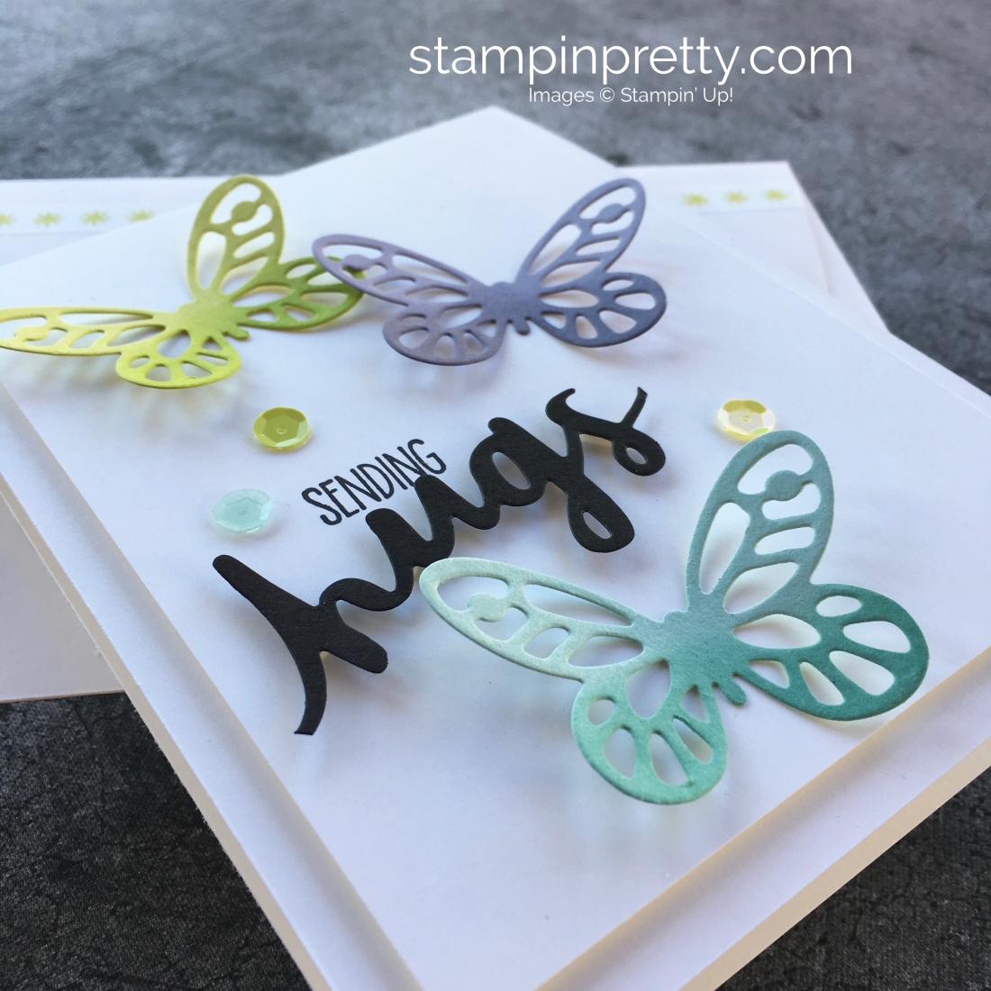 bd1d31952 Sympathy Card Idea Using Stampin Up Bold Butterfly Dies - Mary Fish  StampinUp
