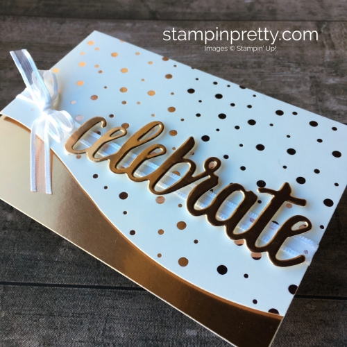 Copper Metallic Birthday Card Idea using Stampin Up Springtime Foil Specialty Designer Series Paper - Mary Fish StampinUp