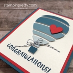 Create a simple boy baby card using Stampin Up & Away Thinlits Dies - Mary Fish StampinUp
