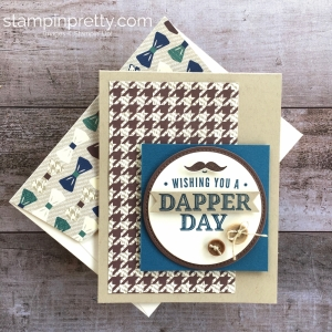 Create a simple masculine card using Stampin Up Truly Tailored stamp set - Mary Fish StampinUp ideas