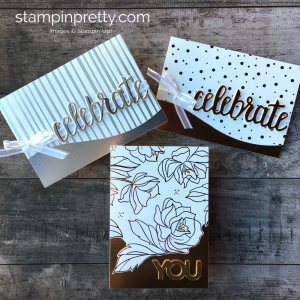 Metallic Birthday Card Idea using Stampin Up Springtime Foil Specialty Designer Series Paper - Mary Fish StampinUp